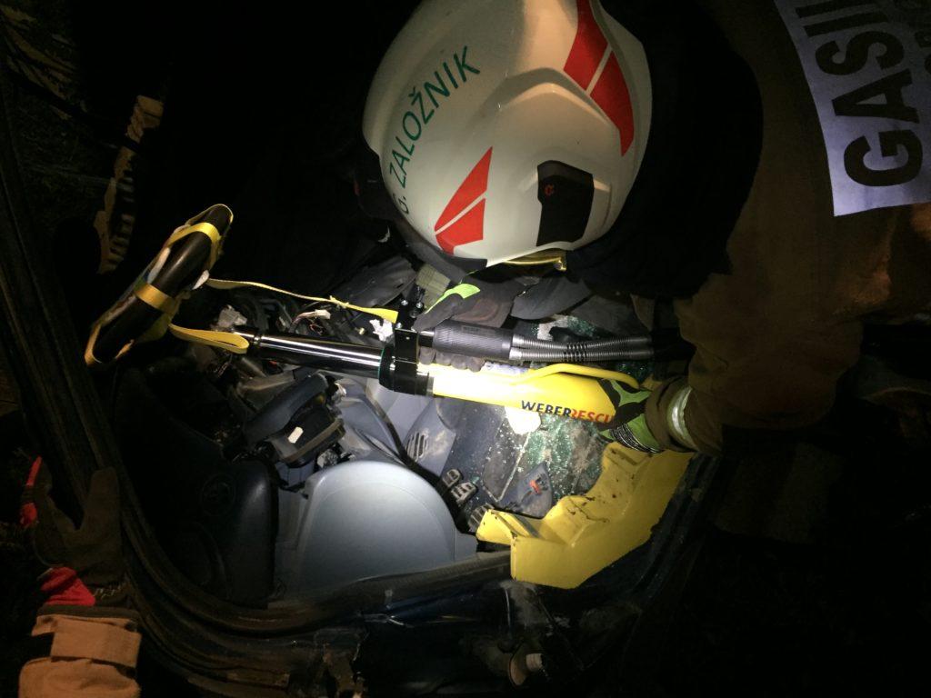 Operativne vaje: Tehnično reševanje ob prometnih nesrečah